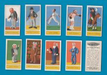 Tobacco Cigarette cards Personalities of Today 1932 Jack Dempsey, Charlie Chaplin
